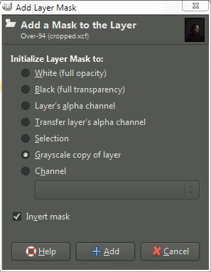 Mairi isolation add layer mask