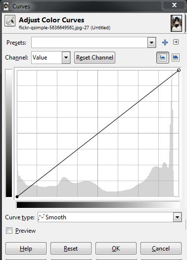 GIMP Base Curves Dialog