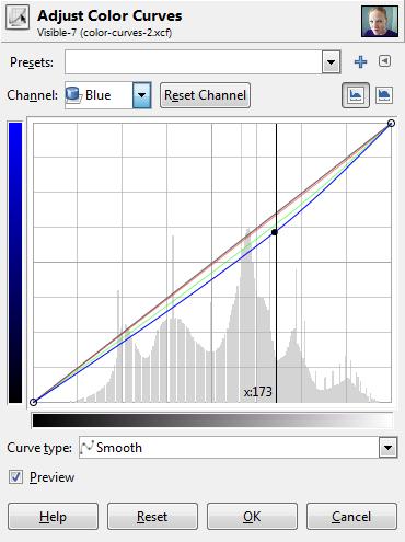 Color Curve Adjustment Blue