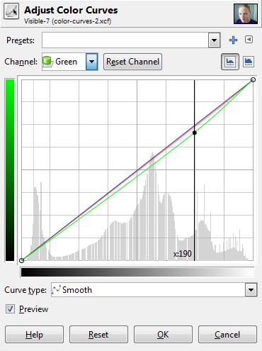 Color Curve Adjustment Green