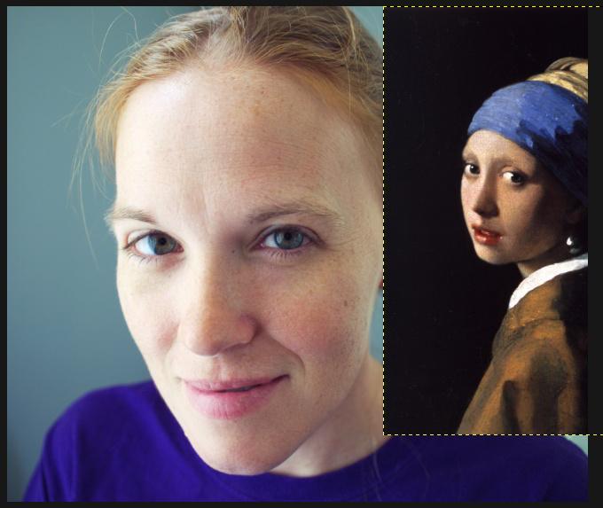 Vermeer setup GIMP