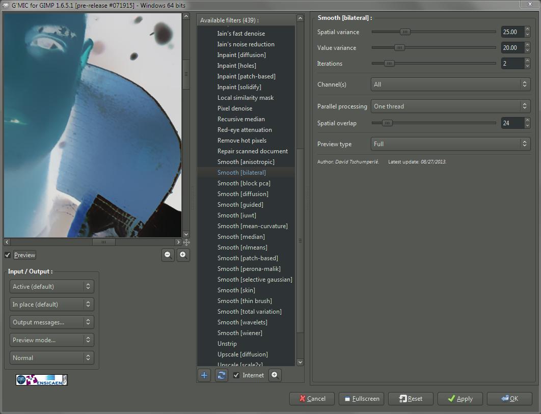 GIMP Freaky Details G'MIC Bilateral Filter
