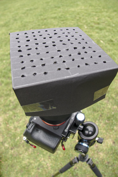 Punch card on camera