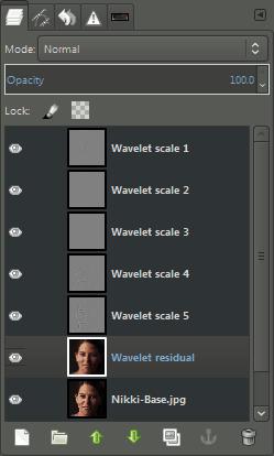 GIMP Layers Wavelet Decompose