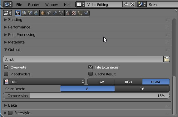 Blender Properties Output Options