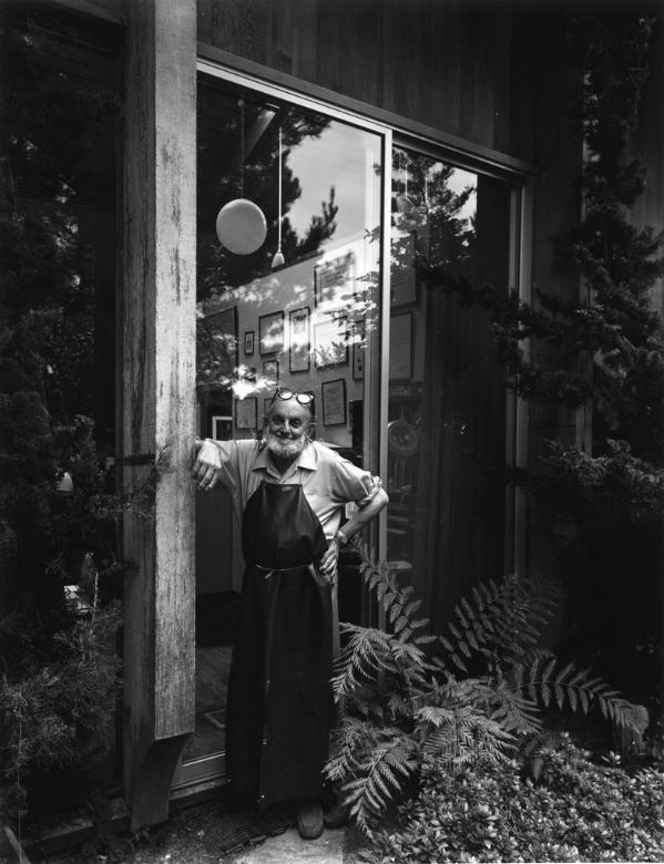Ansel Adams, 1975 by Arnold Newman