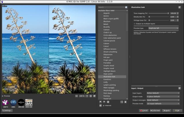 G'MIC plugin for GIMP